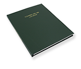 hardbound equipment cleaning and use log book